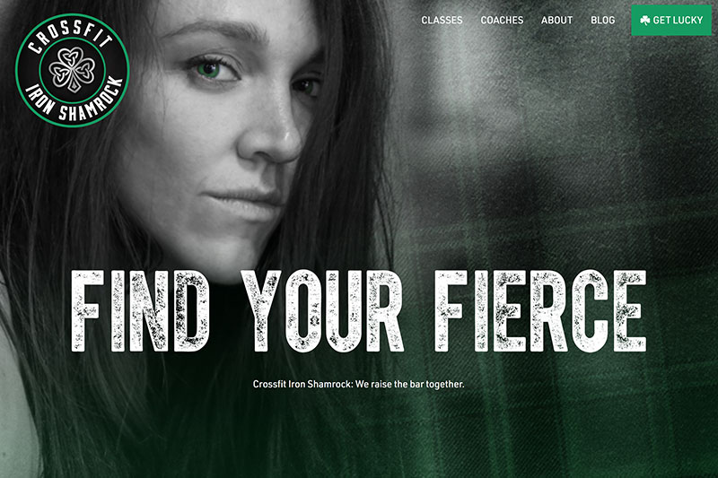 Crossfit Iron Shamrock homepage screenshot