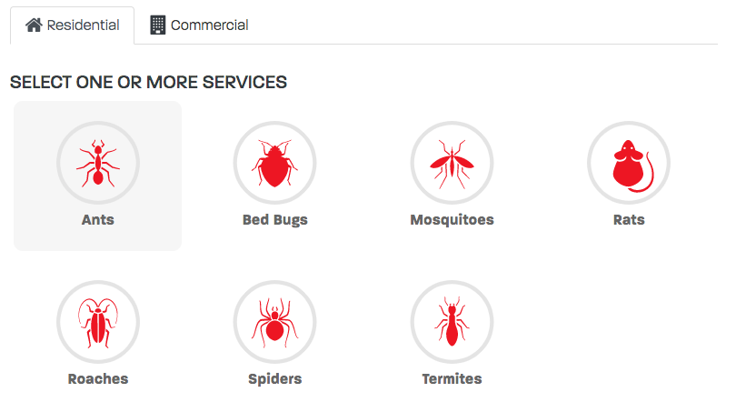 Ideal Pest service icon form